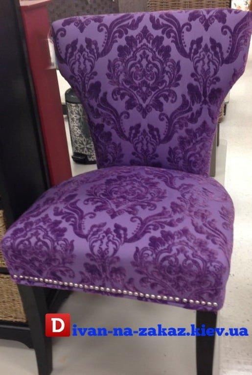 сиреневое красивое кресло на заказ