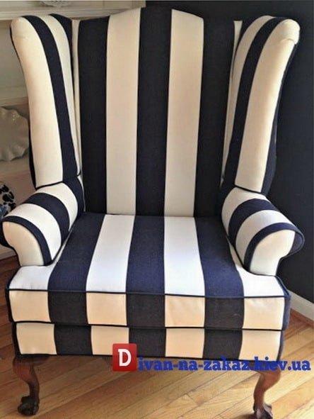 полосатое элитное кресло на заказ