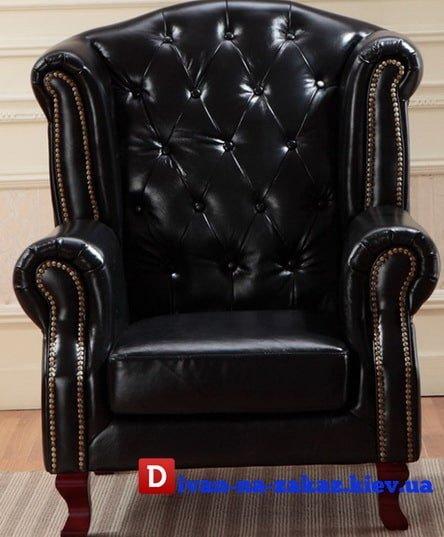 кожаное классическое кресло честер