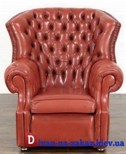 кресло честер с широкой спинкой