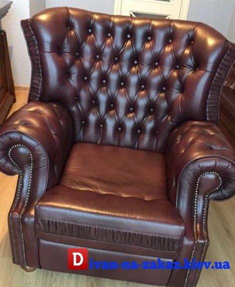 заказать кресло из кожи