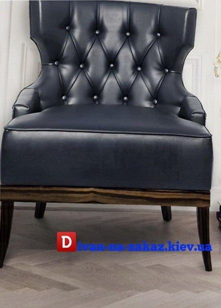 Синее кресло на заказ в Киеве
