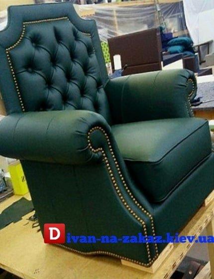 зеленое кресло под заказ в Киеве
