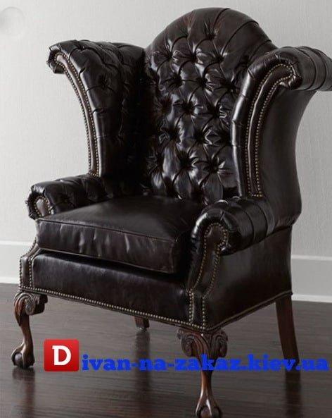 кресло элитное из кожи