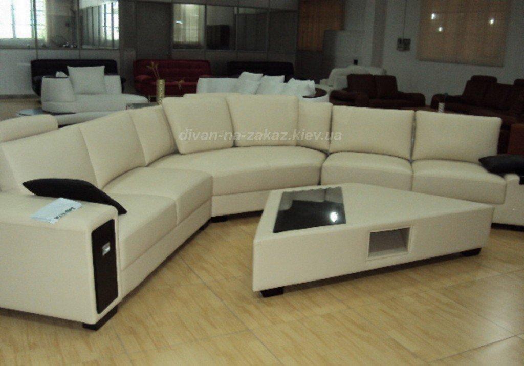 трапецивидный диван с пуфом трапецивидным