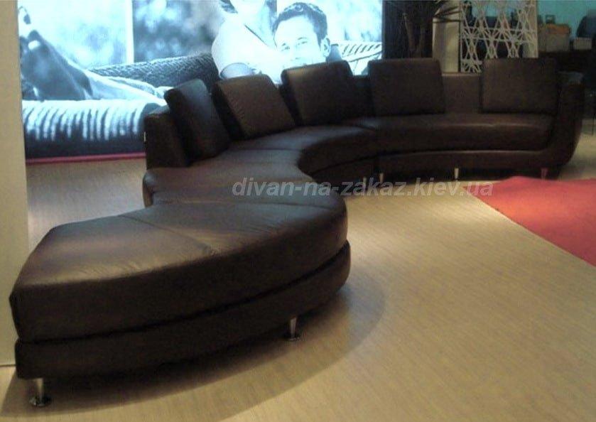 круглая мягкая мебель