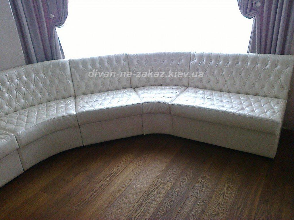 белый большой круглый диван модульный честер