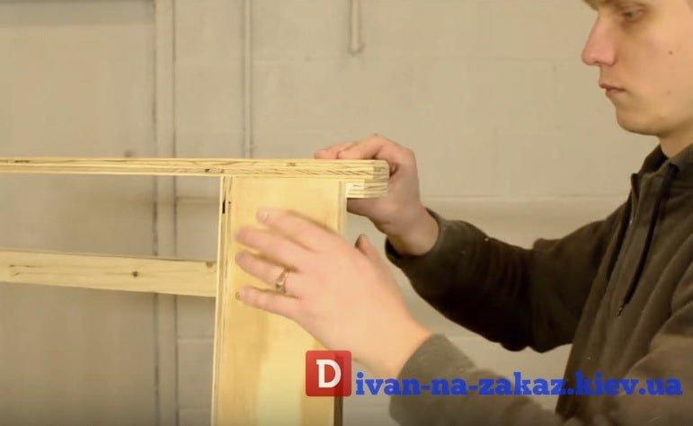 как делают каркас мебели