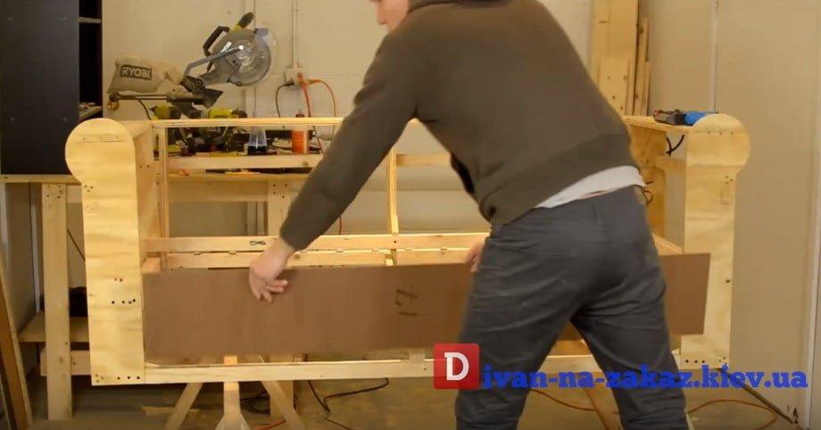 процесс изготовителя каркаса дивана