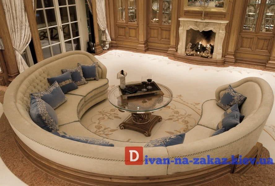 круглый диван в гостиную