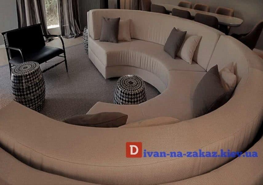 круглый диван заказ