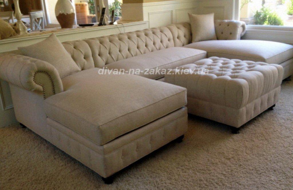 элитный диван с пуфиком под заказ Киев