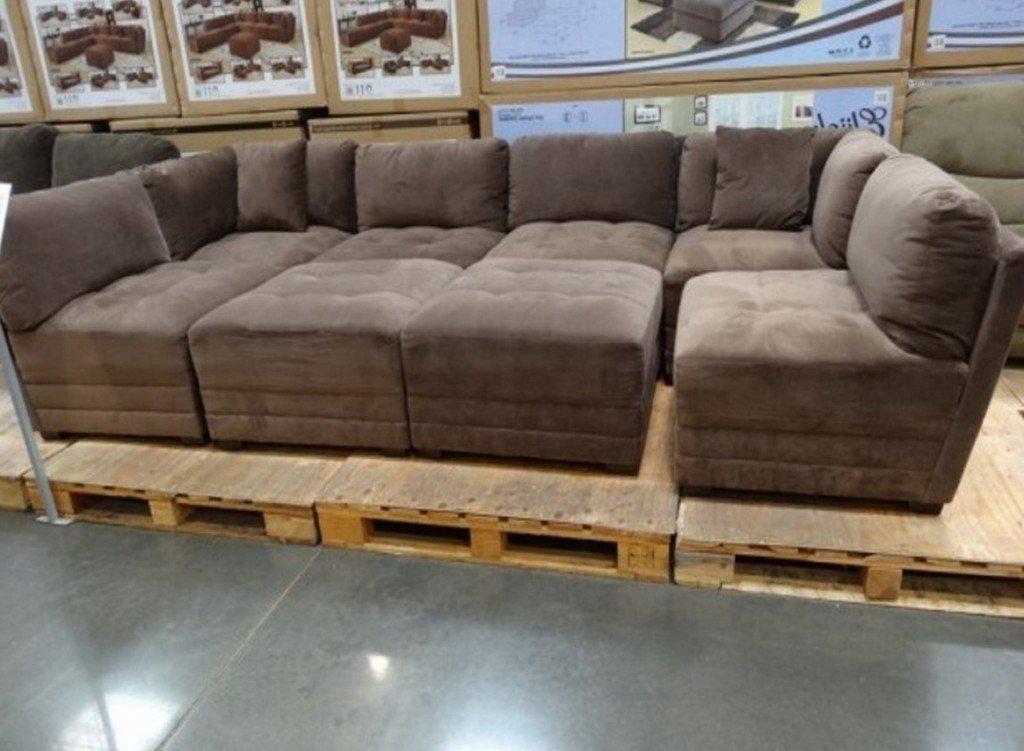 элитный модульный коричневый диван на заказ