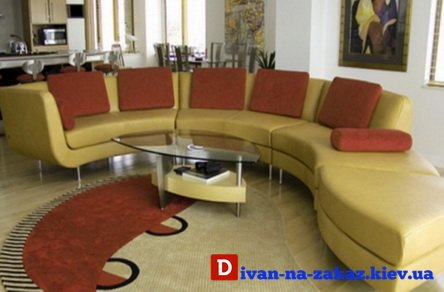 круглая мягкая мебель на заказ