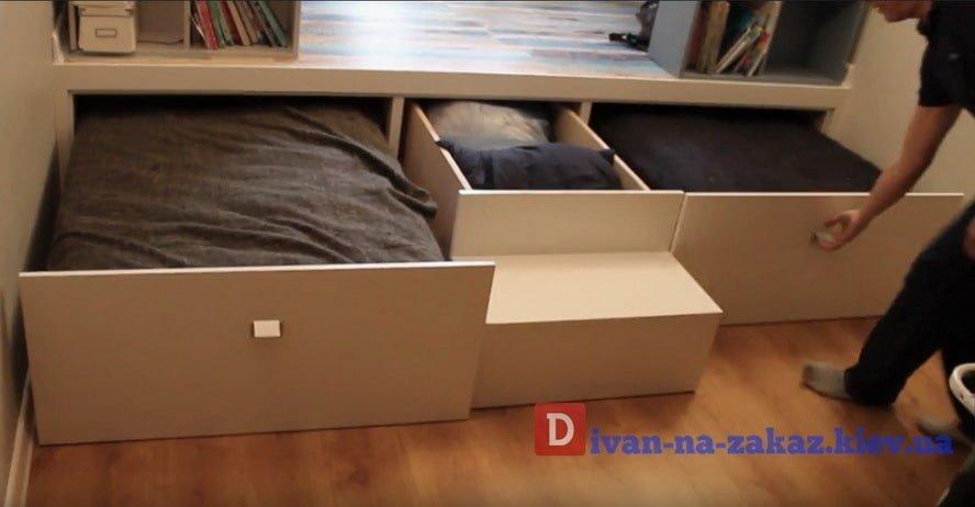 преимущества кровати подиум под заказ