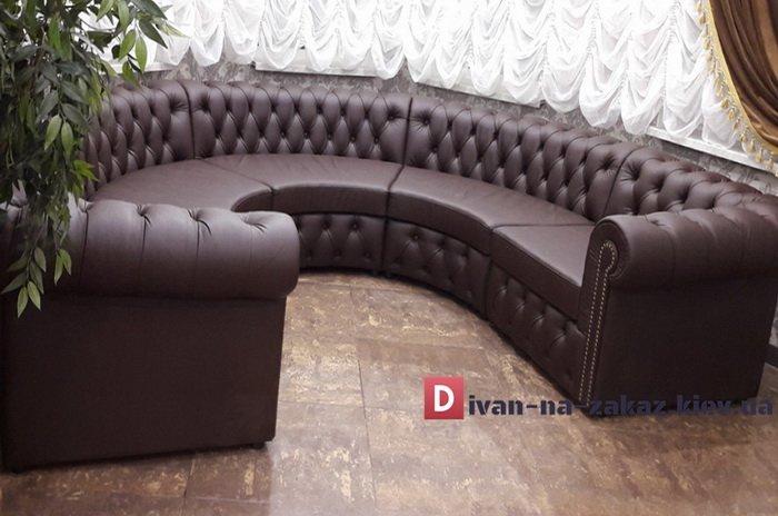 радиусная мягкая мебель честер