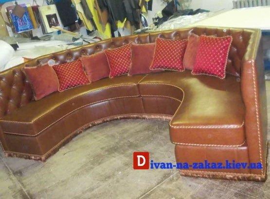 радиусный диван для кухни под заказ
