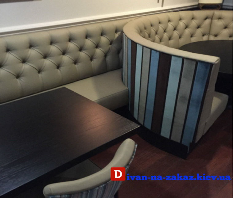 мягкая круглая элитная мебель