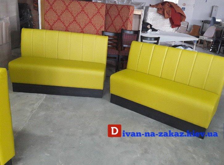 желтые диваны в ресторан