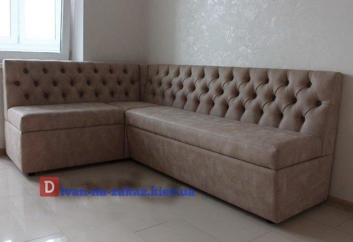 угловой белый диван бежевый заказать