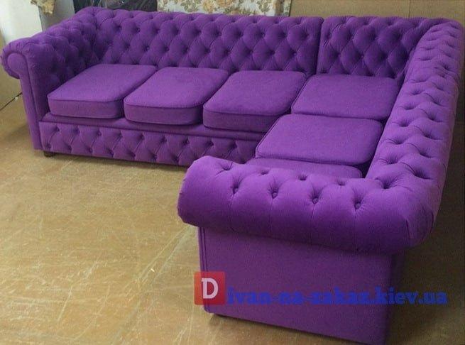 сиреневый офисный диван