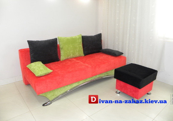 красно желтый детский диван