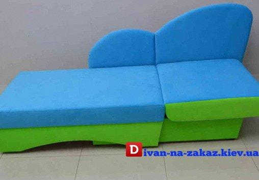 раскладной диван для детей голубого цвета