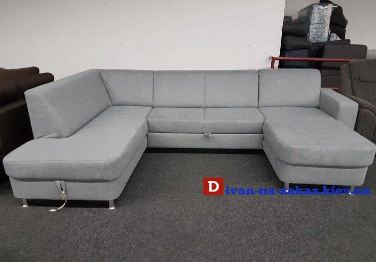 серый раскладной диван на заказ