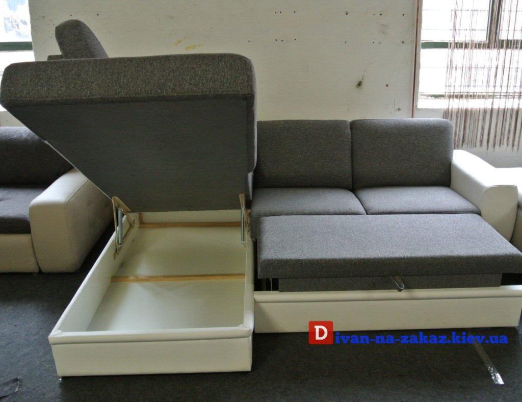 угловой диван со спальным местом и нишей