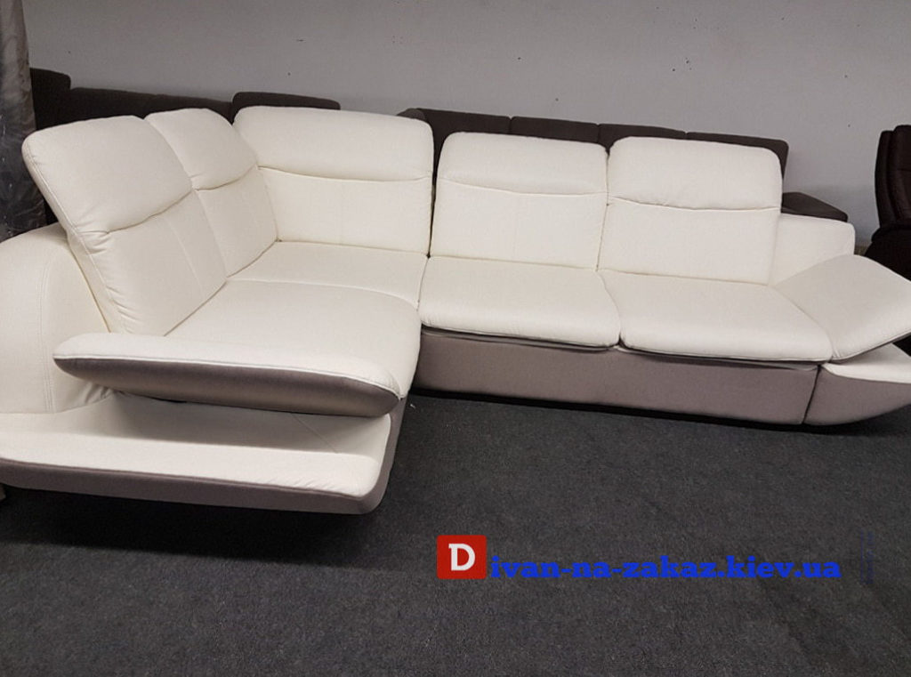 sofa-угловой диван в спальню белого цвета Нивки