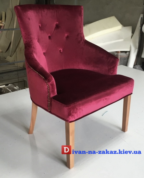 кресло стул красное