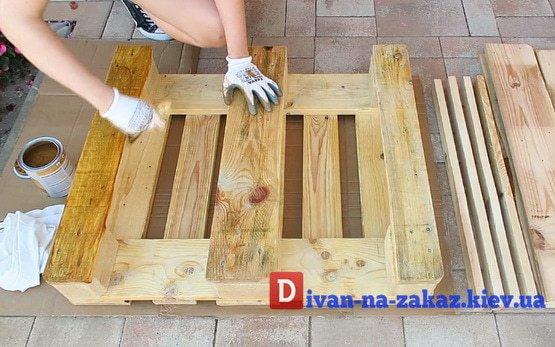 мебель из старых поддонов на заказ Вишневое