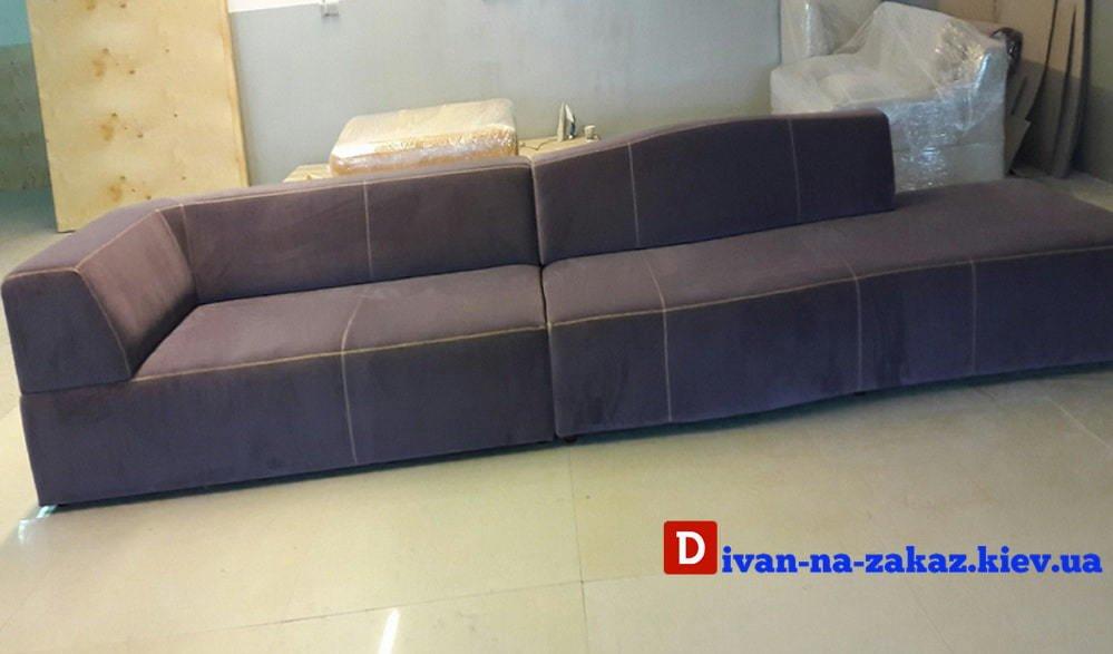 заказная модульная мягкая мебель серого цвета