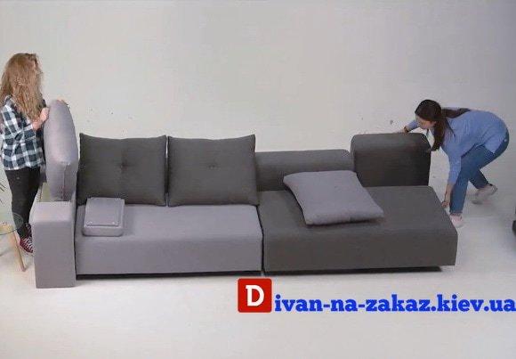 модульный диван в спальню