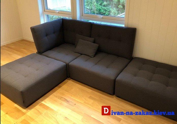 серый модульный диван под заказ