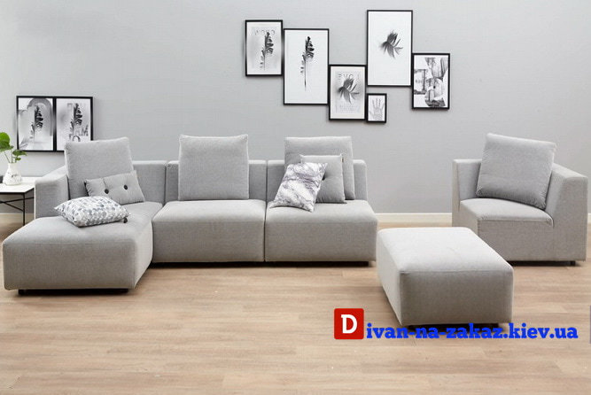 белый модульный диван на заказ
