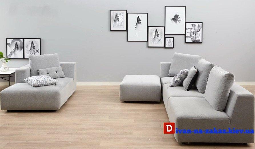 дизайнерский белый модульный диван под заказ