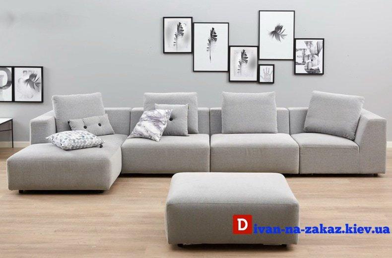 модульная белая мягкая мебель на заказ