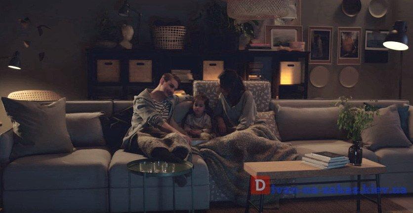 модульный диван для всей семь  под заказ