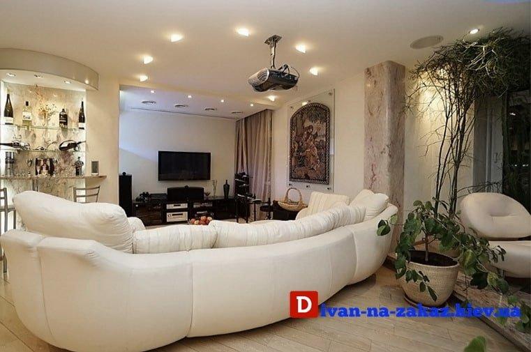 дизайнерский круглый диван на заказ