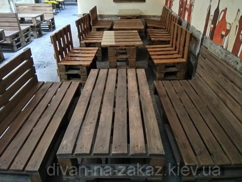 Уличная мебель из поддонов