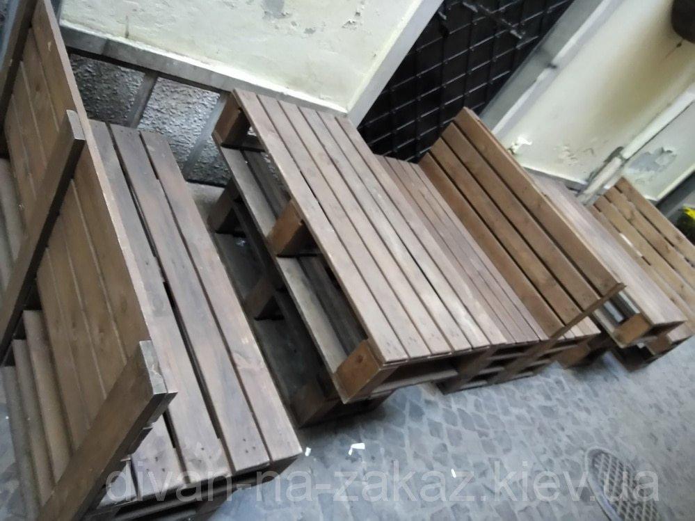Уличная мебель из поддонов под заказ