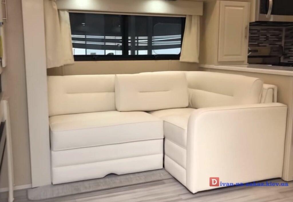 угловой диван на яхту под заказ
